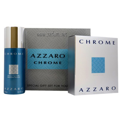 Azzaro Chrome Gift set for men 100ml EDT + 150ml Deo Spray