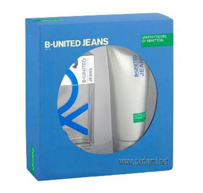 Benetton B-United Jeans Man Комплект за мъже-100ml EDT+200SG