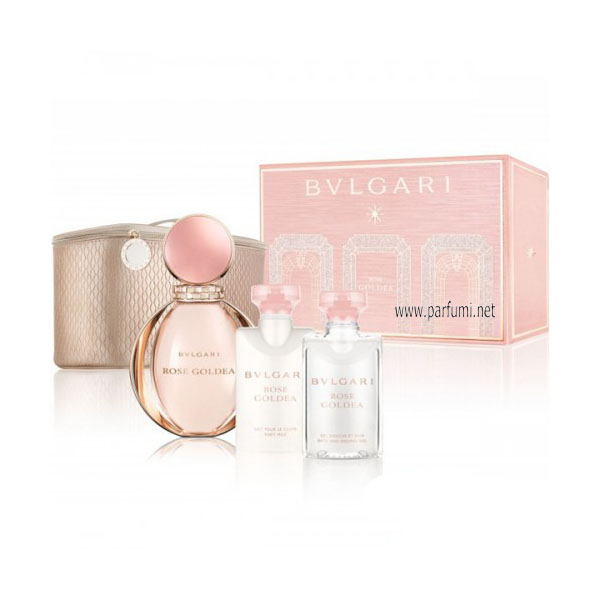 Bvlgari Rose Goldea Комплект - 90ml EDP+75BL+75SG+pouch