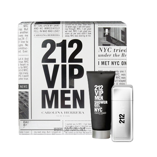 Carolina Herrera 212 VIP Men Gift set for men 100ml EDT + 100ml SG