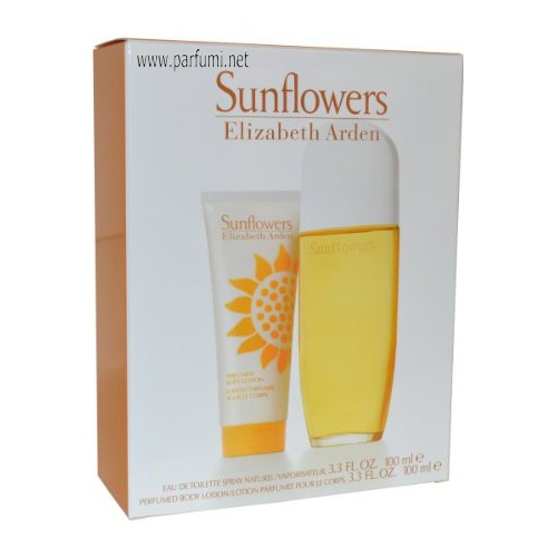 Elizabeth Arden Sunflowers Set for women-100ml EDT+100BL