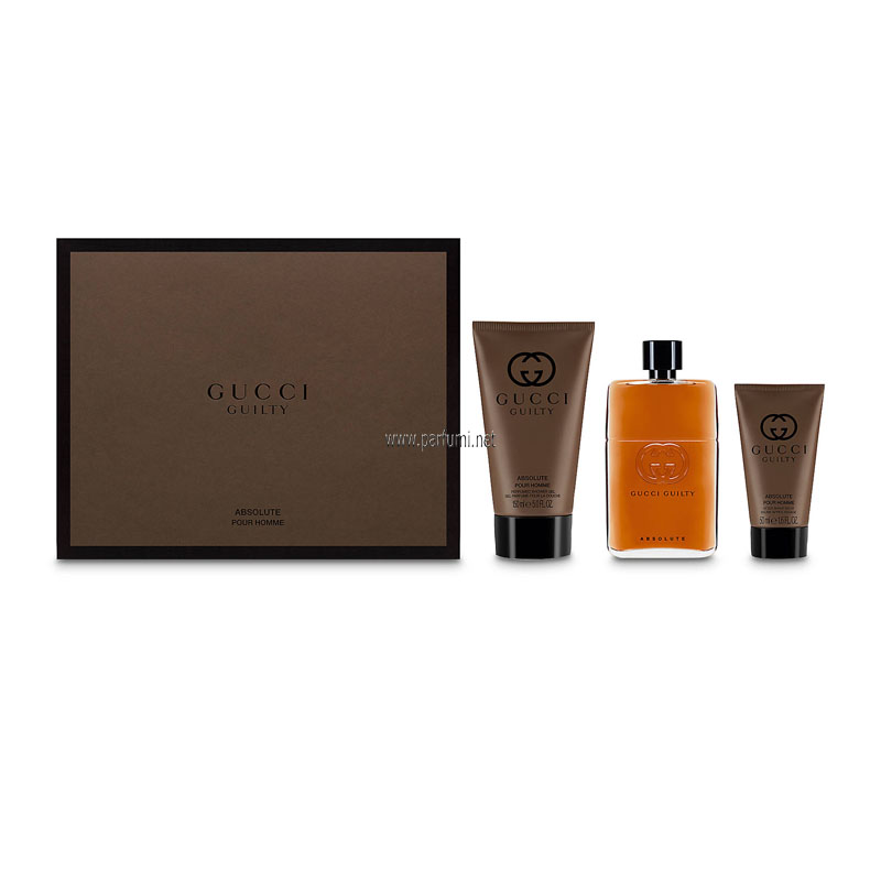 Gucci Guilty Absolute Комплект за мъже- 90ml EDP+150SG+50ASB