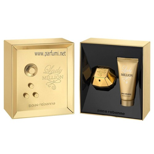 Paco Rabanne Lady Million Комплект за жени-80ml EDP +100ml BL
