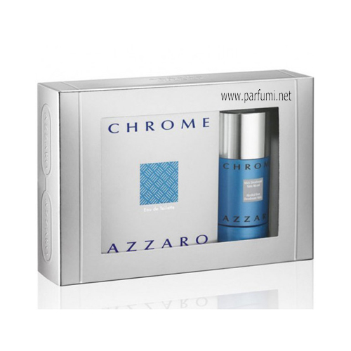Azzaro Chrome Gift set for men 100ml EDT + 75ml Deo Stick