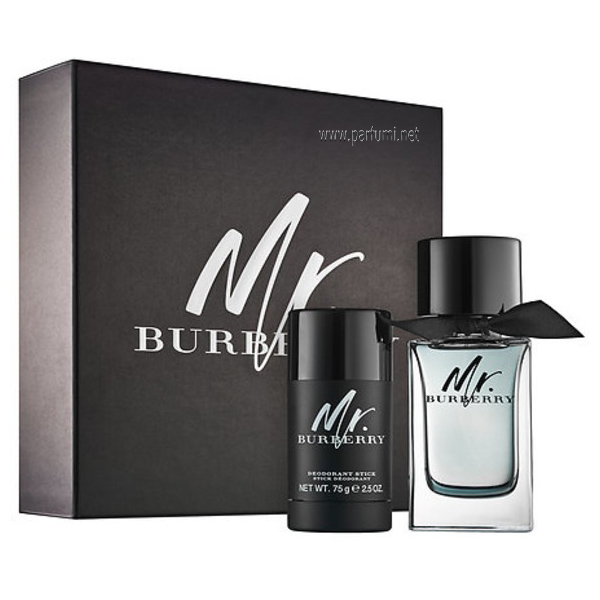Burberry Mr. Burberry Комплект за мъже 100ml EDT + 75ml Део Стик