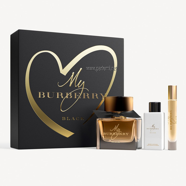 Burberry My Burberry Black Комплект за жени 90ml EDP + 75ml BL + 7.5ml