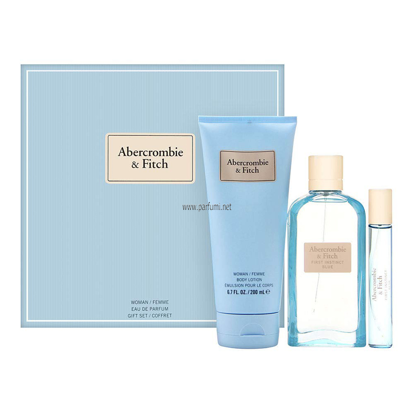Abercrombie Fitch First Instinct Blue Set for women -100m EDP+200ml Lotion+15ml