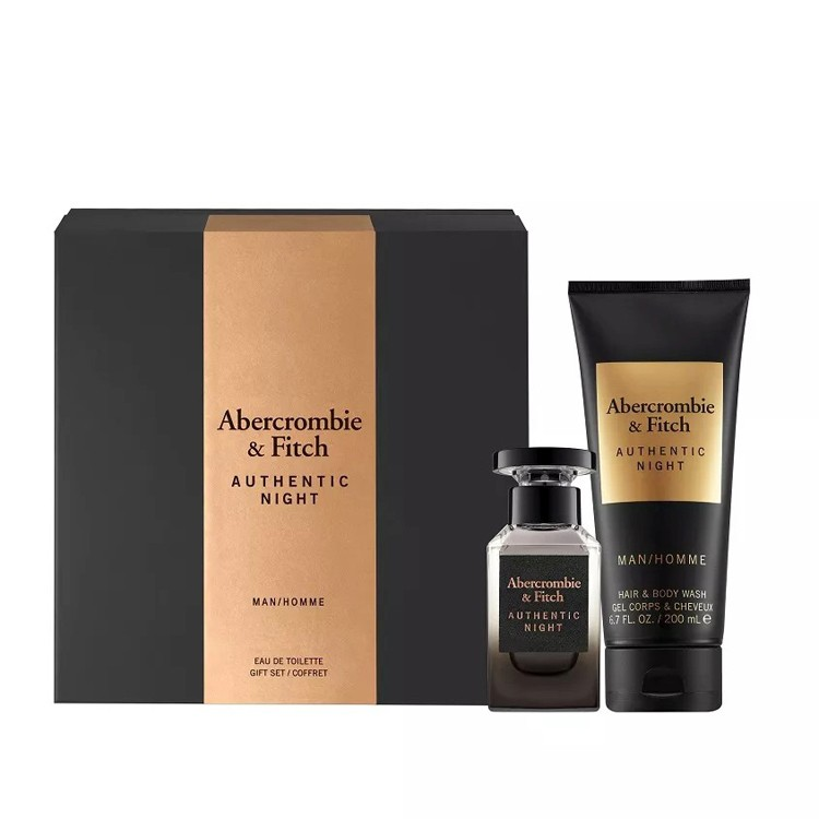 Abercrombie Fitch Authentic Night Комплект за мъже - 50ml EDT + 200ml Душ