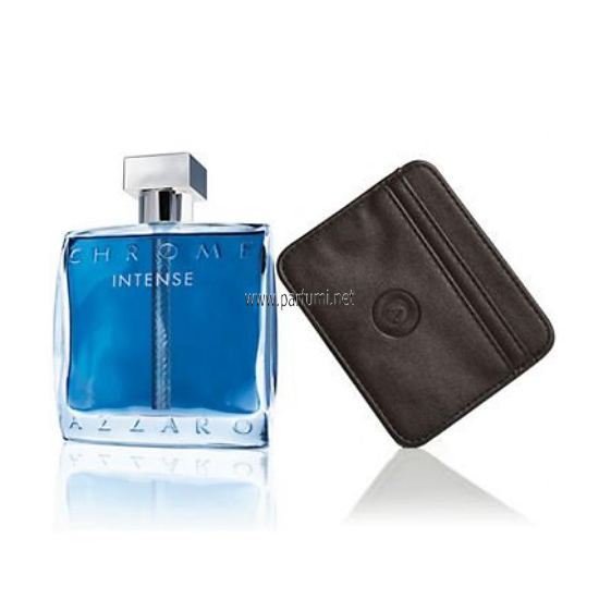 Azzaro Chrome Intense Комплект за мъже - 100ml EDT + card holder