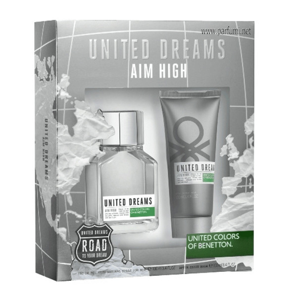Benetton United Dreams Aim High Комплект за мъже 100ml EDT + 100ml ASB