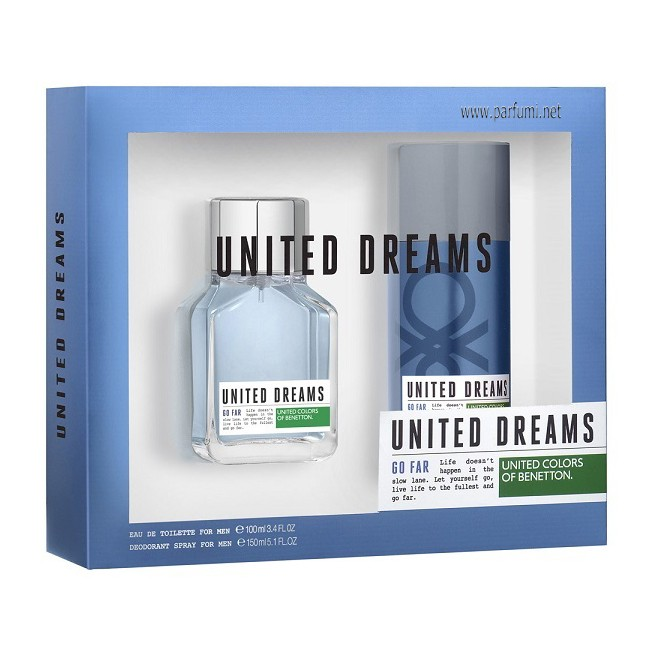 Benetton United Dreams Go Far комплект за мъже - 100ml.+150мл Део