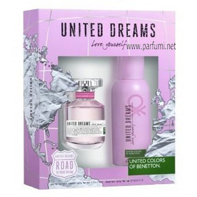 Benetton United Dreams Love Yourself Комплект за жени - 80ml +150 Део