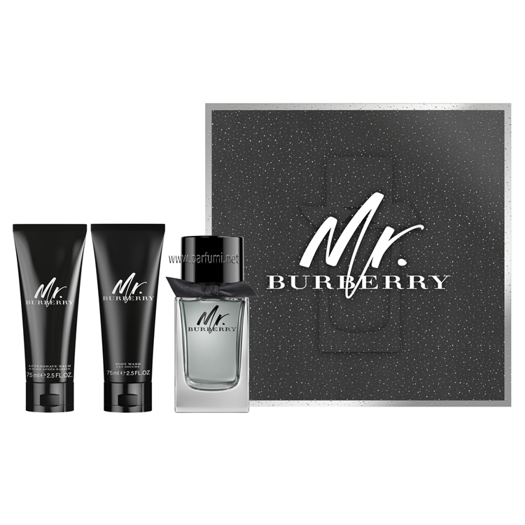 Burberry Mr. Burberry Комплект за мъже - 100ml EDT + 75ml SG+75ASB