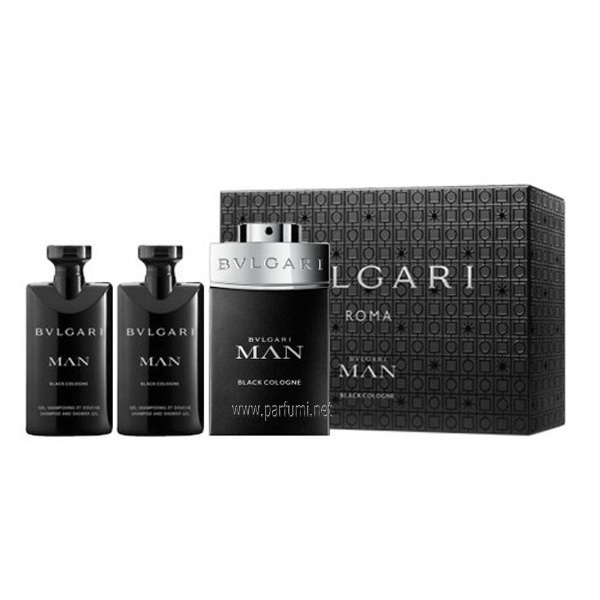 Bvlgari Man Black Cologne Комплект за мъже 60ml EDT + 40ml SG + 40ml ASB