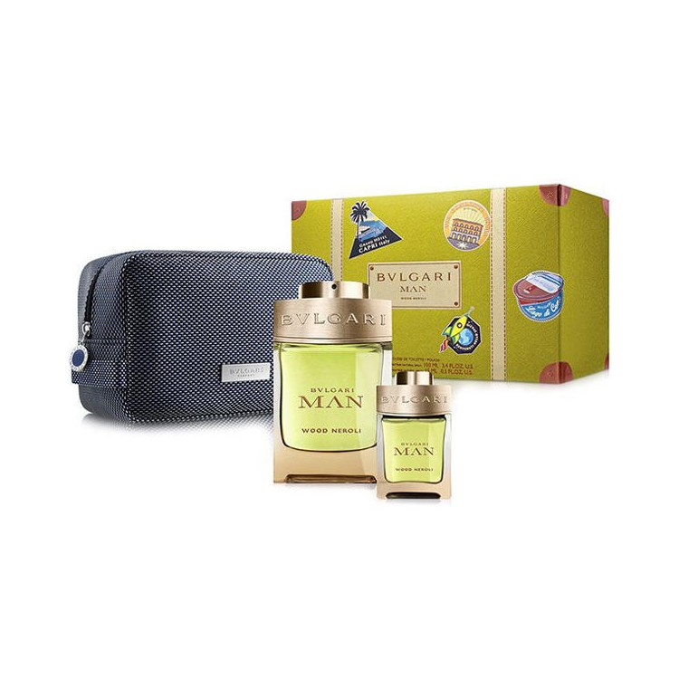 Bvlgari Man Wood Neroli Комплект за мъже - 100ml EDP+15ml EDP+несесер