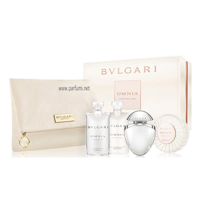 Bvlgari Omnia Crystalline Комплект за жени-25EDT+75BL+75SG+soap+pouch