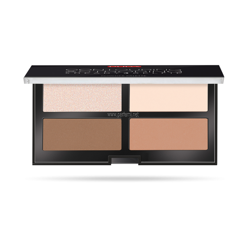 Pupa Contouring&Strobing Powder Palette Light skin 001