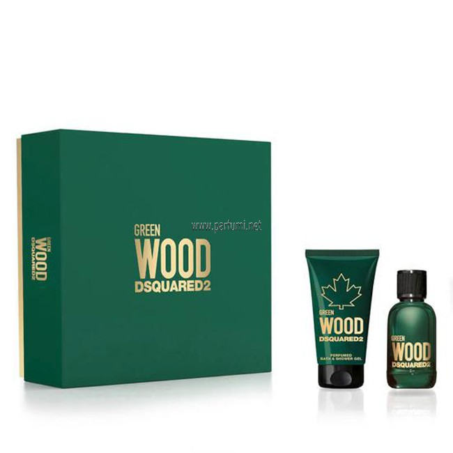 DSQUARED² Green Wood Pour Homme Комплект за мъже - 30ml EDT+50ml Душ