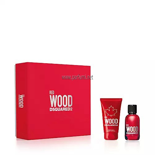 DSQUARED² Red Wood Комплект за жени - 30ml EDT+50ml Душ гел