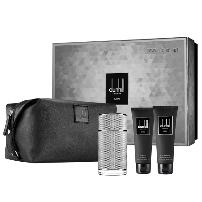 Dunhill Icon Gift set for men 100ml EDP + 90 ASB + 90SG + bag