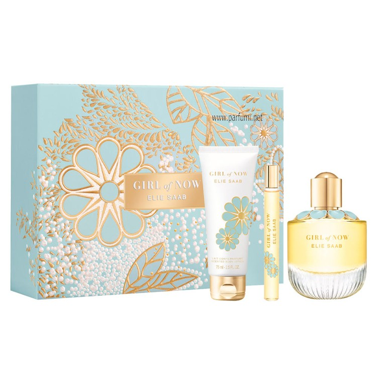 Elie Saab Girl of Now Комплект  за жени-90ml EDP+75ml BL + 10ml EDP
