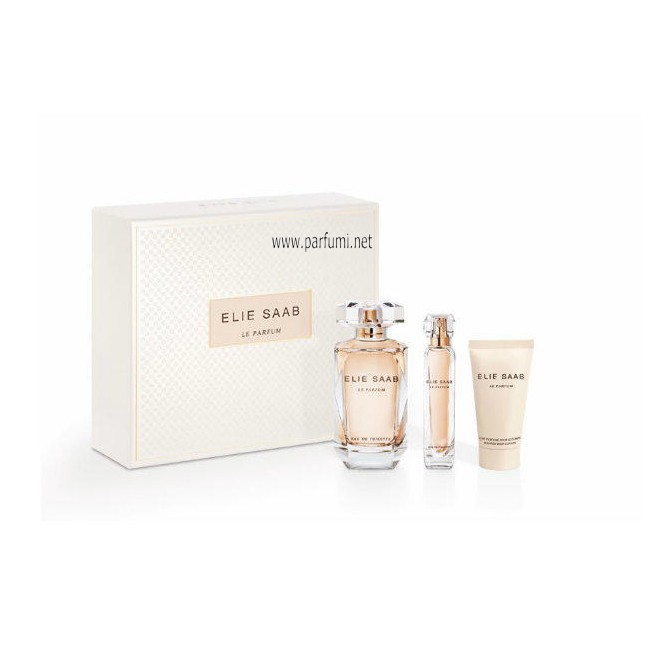 Elie Saab Le Parfum Set for women-90ml EDP+75BL+10ml EDP