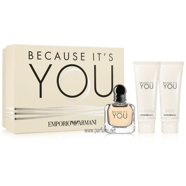 Emporio Armani Because Its You Комплект за жени -100ml EDP +75BL+75SG