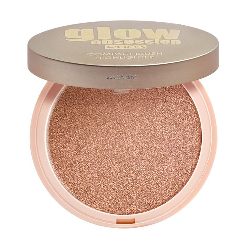 Pupa Glow Obsession Compact Blush Highlighter Peach 050164A001