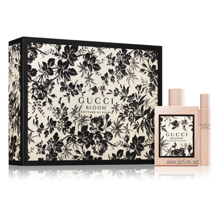 Gucci Bloom Nettare Di Fiori Set for women - 50ml EDT+ 7.4ml Roll