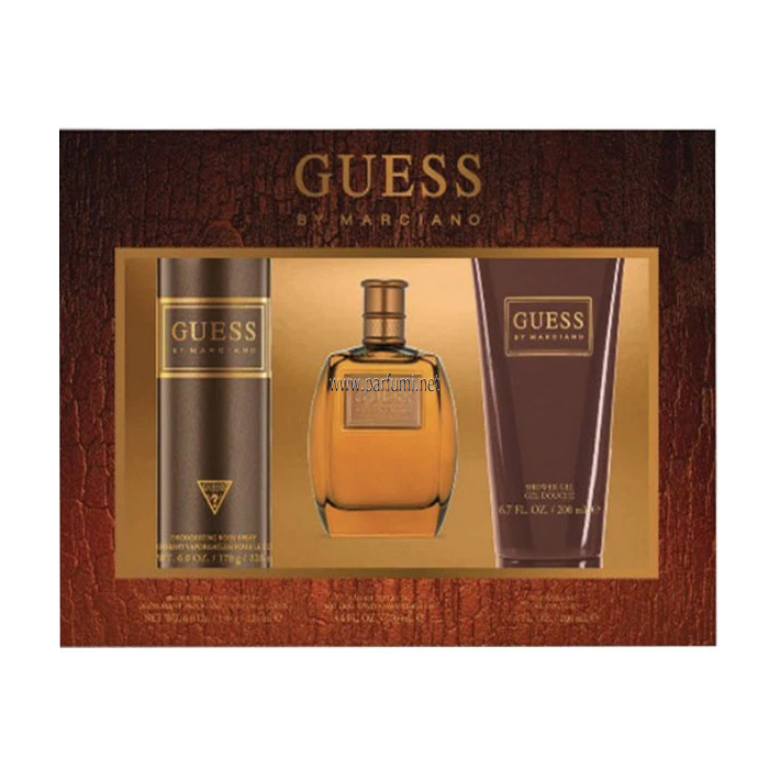 Guess By Marciano Set for men - 100ml EDT+226ml Deo+200ml Shower