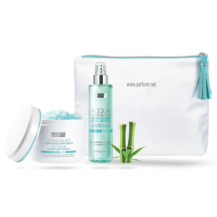 Pupa Home Spa Kit Scrub and Scented Water with Bamboo Extract