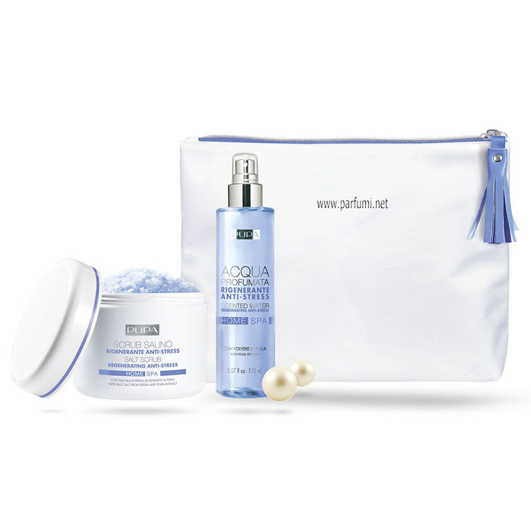 Pupa Home Spa Kit Scrub and Scented Water with Pearl Extract
