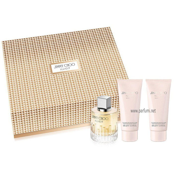 Jimmy Choo Illicit Set for women - 100ml EDP+100ml BL+100ml SG