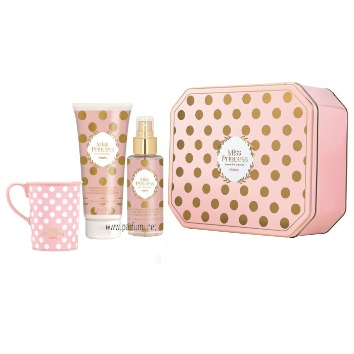 Pupa Miss Princess Large Set Tin Box Розов цвят