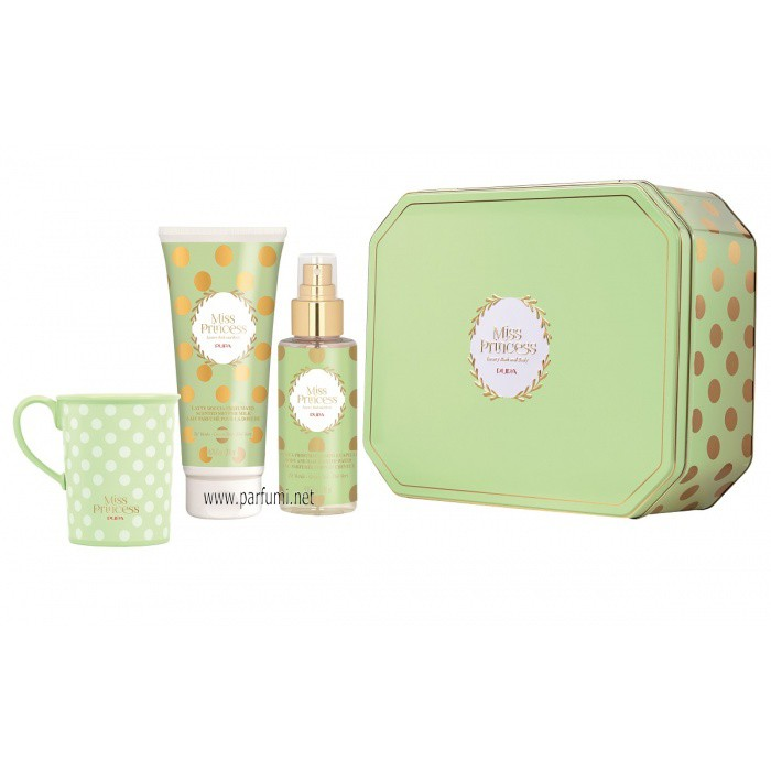 Pupa Miss Princess Large Set Tin Box Зелен чай