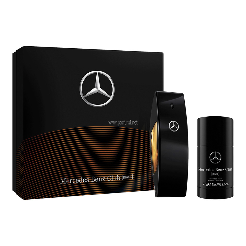 Mercedes-Benz Club Black Комплект за мъже - 100ml EDT +75ml Стик