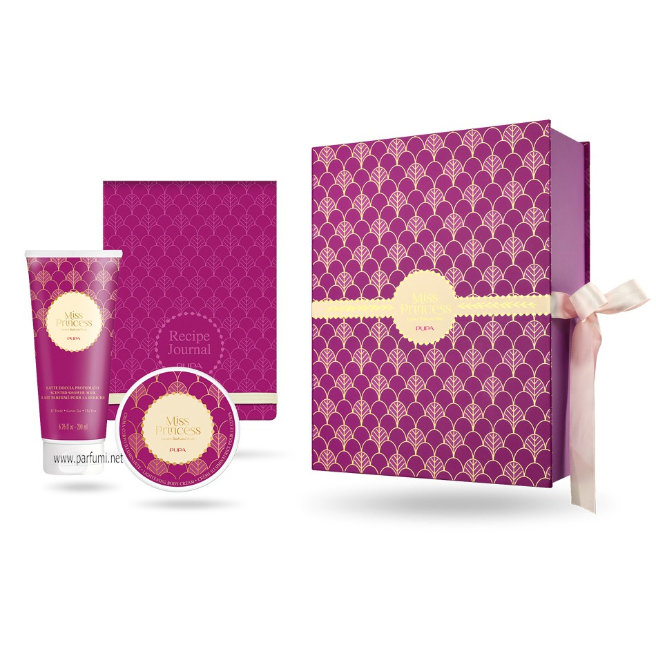 Pupa Miss Princess Medium Kit 1 Luxury Bath and Body Green Tea