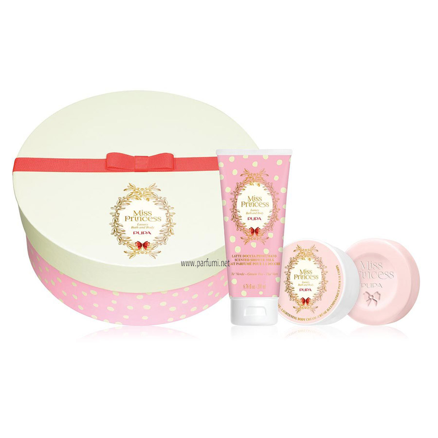 Pupa Miss Princess Medium Set Зелен чай -200SG+100BC+сапун