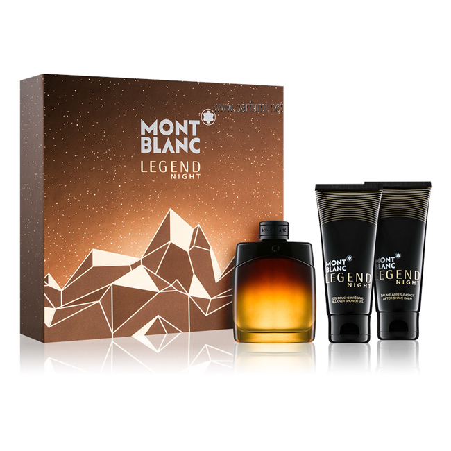 Mont Blanc Legend Night Комплект за мъже - 100ml EDP+100SG+100ASB