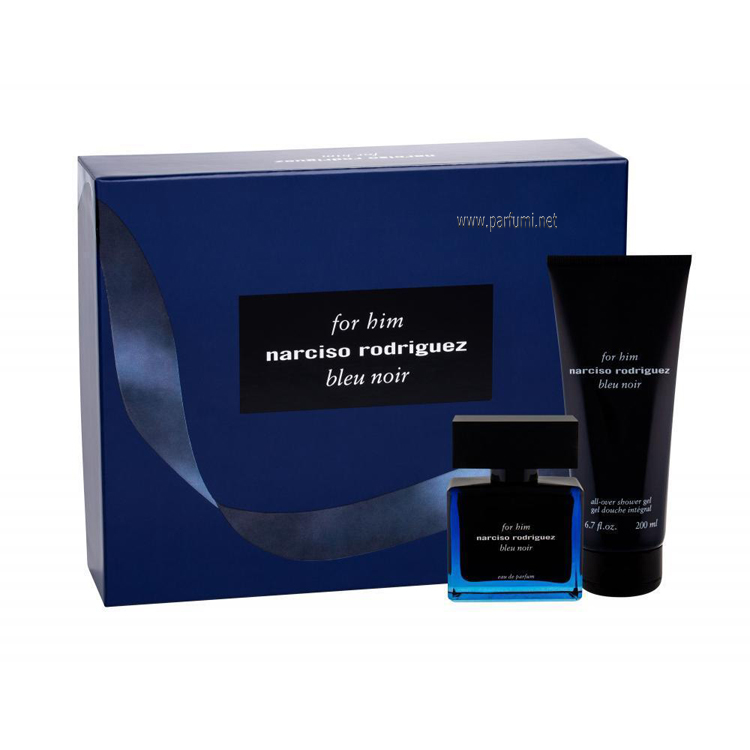 Narciso Rodriguez for Him Bleu Noir EDP Комплект за мъже - 50ml EDP+200ml Душ