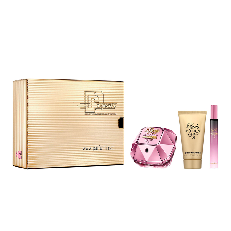Paco Rabanne Lady Million Empire Комплект за жени-50ml EDP+75ml Лосион+10ml EDP