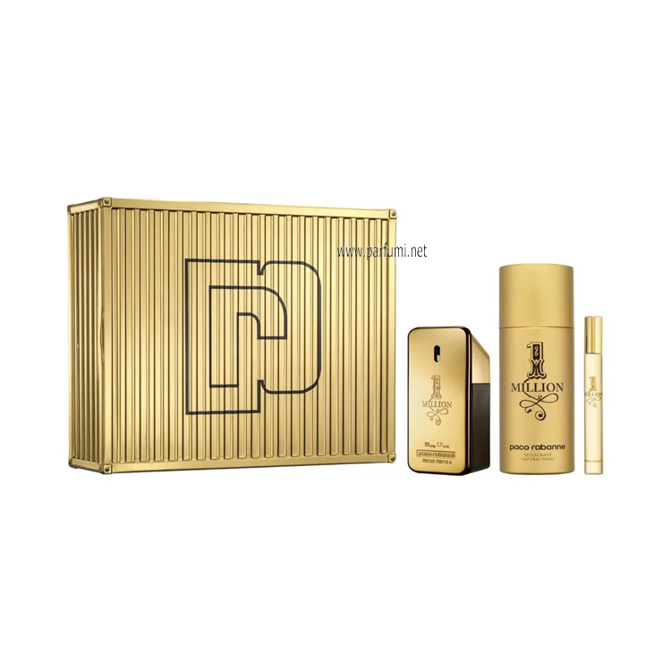 Paco Rabanne 1 Million Комплект за мъже- 50ml EDT+150ml Deo+10ml EDT