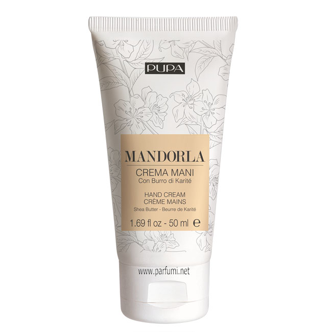Pupa Hand Cream With Shea Butter - Almond - 50ml