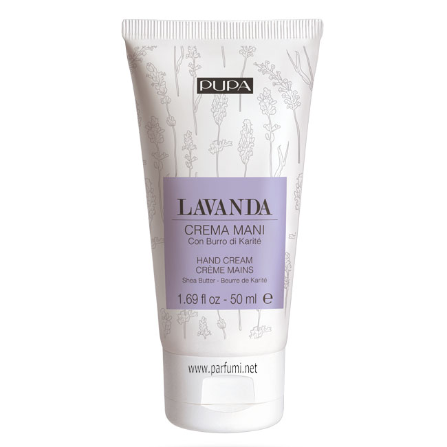 Pupa Hand Cream With Shea Butter - Lavender - 50ml