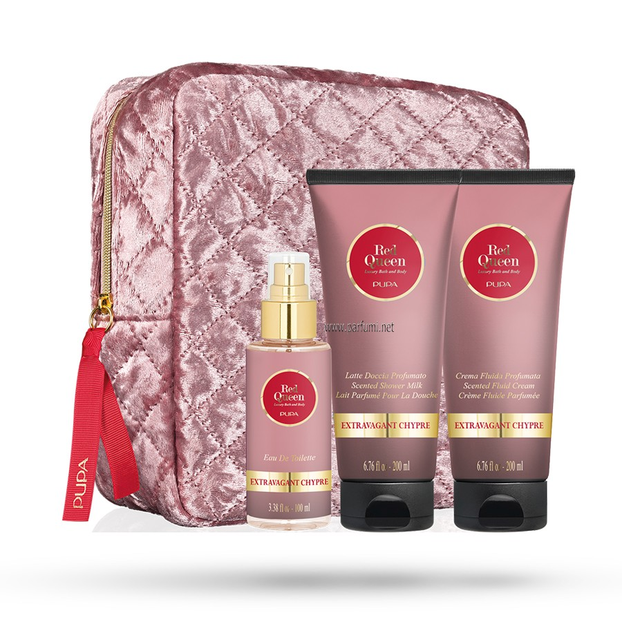 Pupa Red Queen Extravagant Chypre -200ml Душ мляко+200ml крем за тяло+100ml EDT