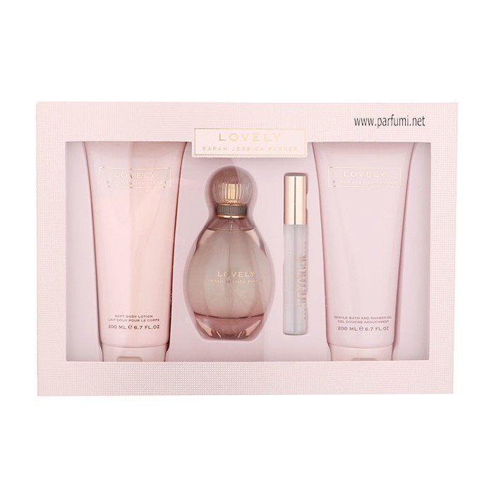Sarah Jessica Parker Lovely Комплект за жени -100ml. EDP+200BL+200SG+10ml mini