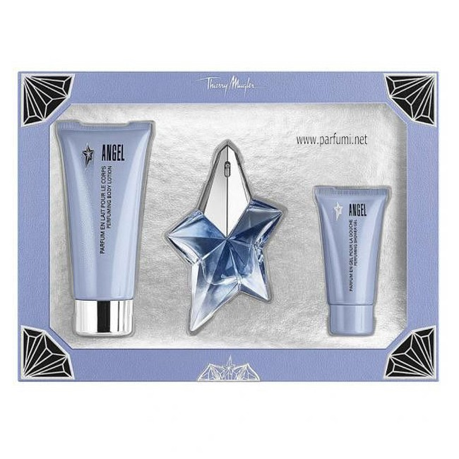 Thierry Mugler Angel Комплект за жени-25ml EDP+ 100ml BL+30SG