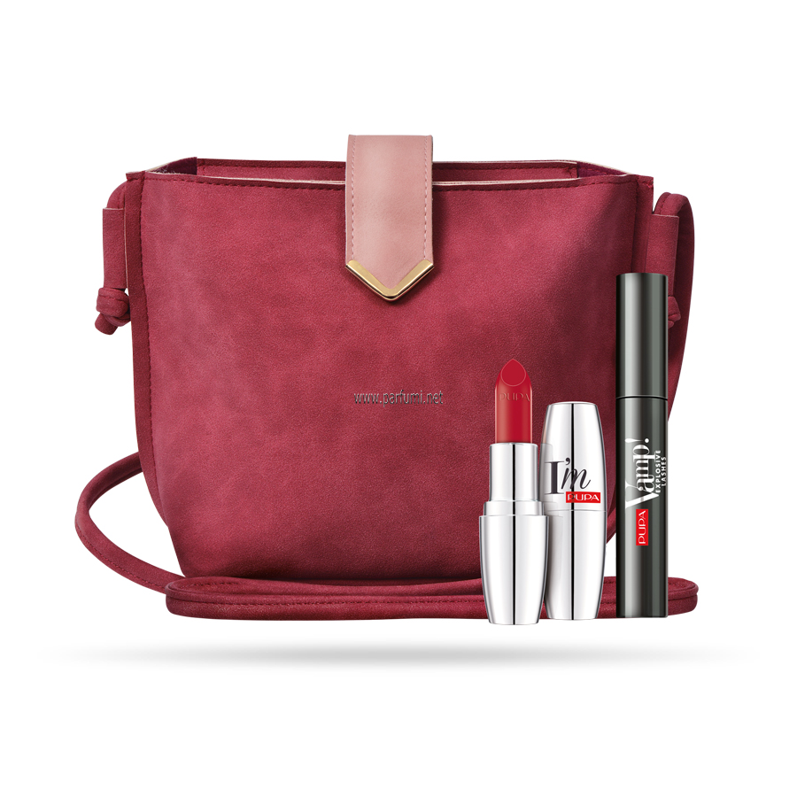 Pupa VAMP!Set MASCARA Explosive Lashes+Lip I`m+bag