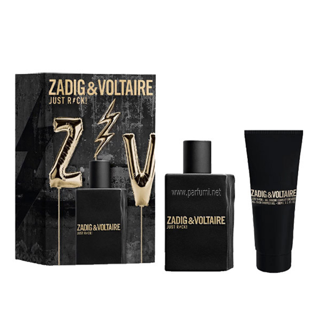 Zadig&Voltaire Just Rock Комплект за мъже 50ml EDT + 100ml Душ-гел