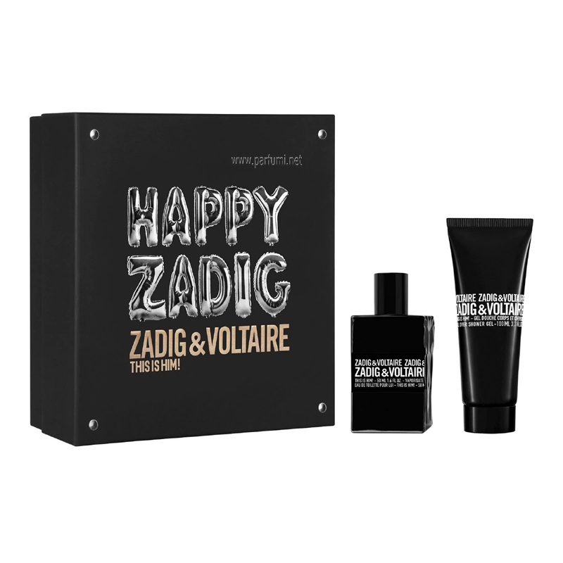 Zadig&Voltaire This is Him Комплект за мъже 50ml EDT + 100ml Душ Гел